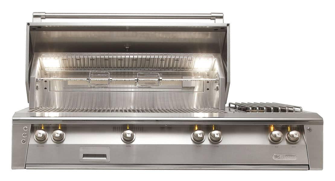 Alfresco ALXE-56 Built-in Grill with Double Side Burner
