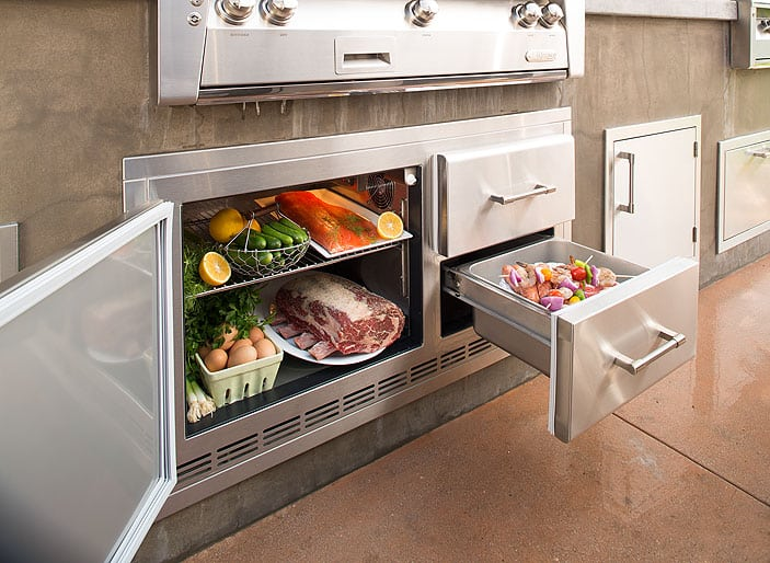 Alfresco under Grill Refrigerator with Drawers